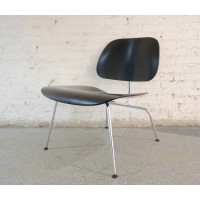 Eames Style LCM plywood dining Chair in Black Color Ash