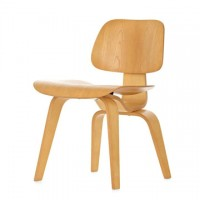Eames Style DCW plywood dining Chair in Ash