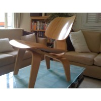 Eames Style LCW plywood dining Chair in walnut