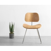 Eames Style DCM plywood dining Chair in Ash