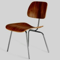 Eames Style DCM plywood dining Chair in Rosewood