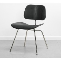 Eames Style DCM plywood dining Chair in Black Color Ash