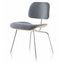 Eames Style DCM plywood dining Chair in Fabric
