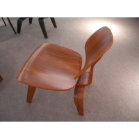 Eames Style LCW plywood dining Chair in White Color Ash