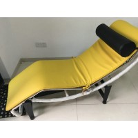 Le Corbusier Style Chaise Lounge Chair Lc4 In PU Leather