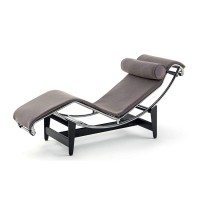 Le Corbusier Style Chaise Lounge Chair Lc4 In Fabric