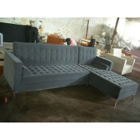 Florence Knoll Corner Sofa, Made In Fabric
