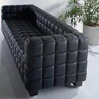 Hoffman Kubus Sofa,Three Seaters In Real Calf Leather