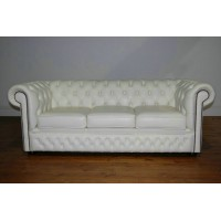 Chesterfield Sofa,3 Seaters In Real Calf Leather
