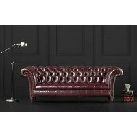 Loveseat Of Chesterfield Tufted Luxury Sofa In Faux Wax Leather