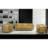 Onda Single Chair In Real Calf Leather