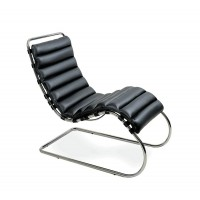 Mies Mr Chaise Lounge Chair Without Arms,Style 2, Made In Real Calf Leather
