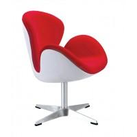 Swan Chair With Fiberglass Shell