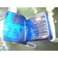 Kartell Style Frilly Chair In Blue